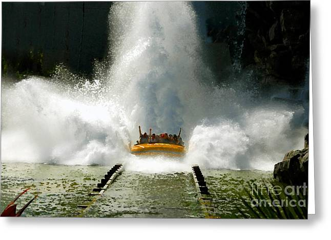 Theme Park Greeting Cards - Splash Down Greeting Card by David Lee Thompson