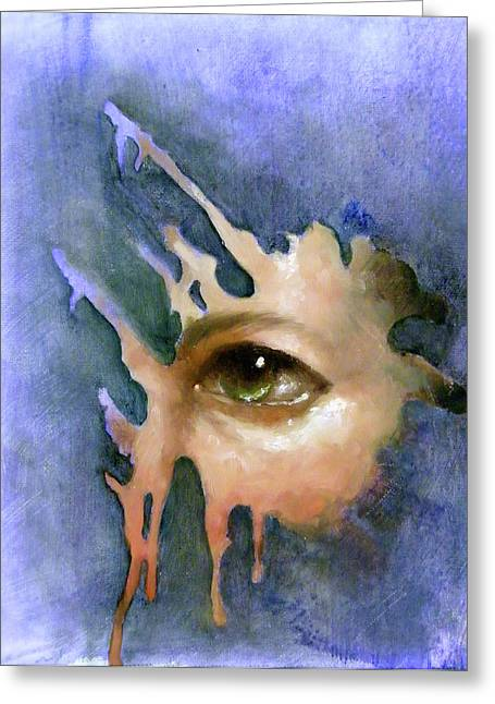 Recently Sold -  - Eyebrow Greeting Cards - Splash of Color Greeting Card by Ulysses Albert III