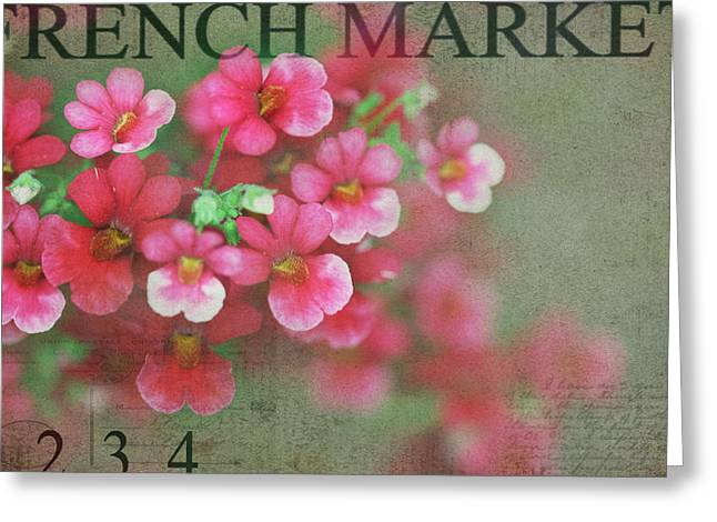 Texture Flower Greeting Cards - Splash Greeting Card by Rebecca Cozart