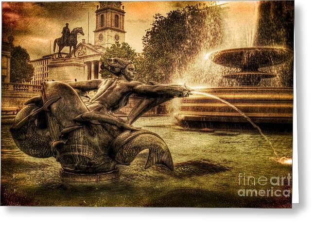 Trafalgar Greeting Cards - Splash Greeting Card by Yhun Suarez
