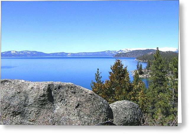 Splendid Lake Tahoe Greeting Card by Will Borden