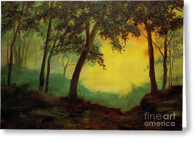 Mo Artist Paintings Greeting Cards - Splendid Solitude Greeting Card by Vic  Mastis