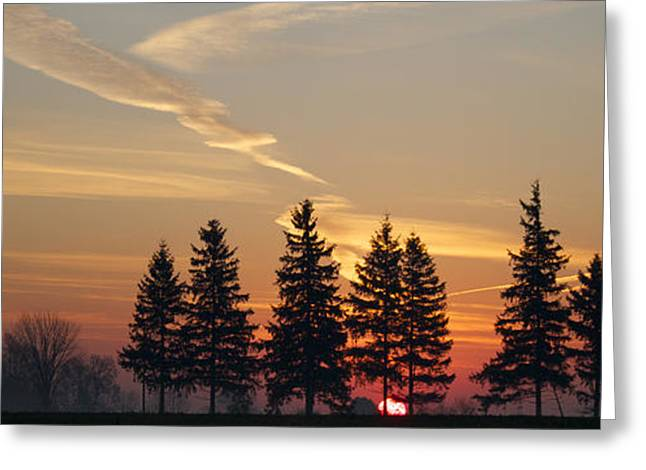 Clouds Greeting Cards - Splendid Sunrise Greeting Card by John-Paul Fillion