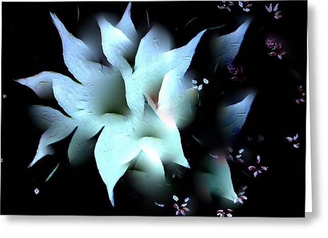 Digital Art Greeting Cards - Splendor Of A Flower Greeting Card by Sherri  Of Palm Springs