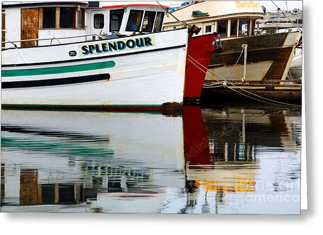 French Creek Marina Greeting Cards - Splendour Greeting Card by Bob Christopher