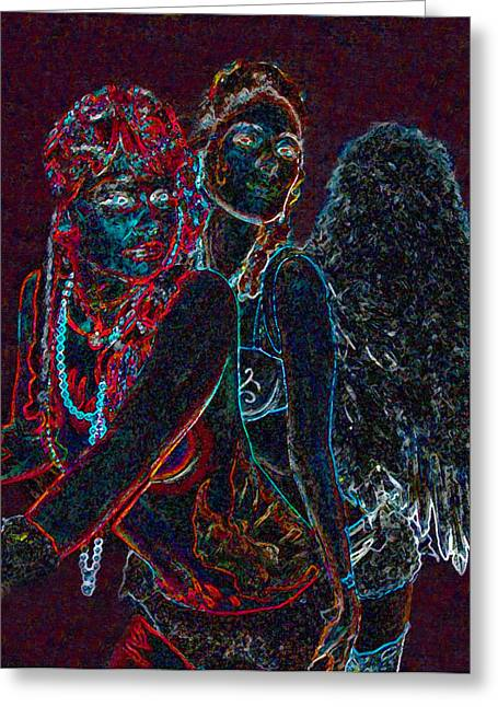 Split Personality Greeting Cards - Split Personality Greeting Card by David Lee Thompson