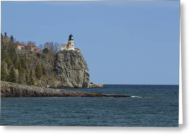 Ocean Photography Greeting Cards - Split Rock Lighthouse 89 Greeting Card by John Brueske