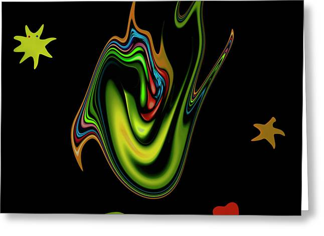 Told Greeting Cards - Split Tongue 2 Greeting Card by Stefan Kuhn