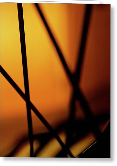 Spokes Greeting Cards - Spoke on Fire Greeting Card by Angie Wingerd