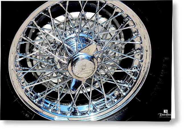 Spokes Greeting Cards - Spoke Wire Wheel Greeting Card by Russ Harris