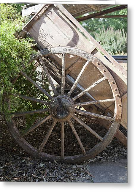 Old Relics Greeting Cards - Spoked Greeting Card by Carole Hinding