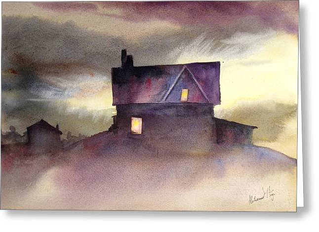 Haunted House Paintings Greeting Cards - Spooktacular Greeting Card by Mohamed Hirji