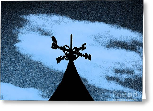 Creepy Digital Art Greeting Cards - Spooky Silhouette Greeting Card by Al Powell Photography USA