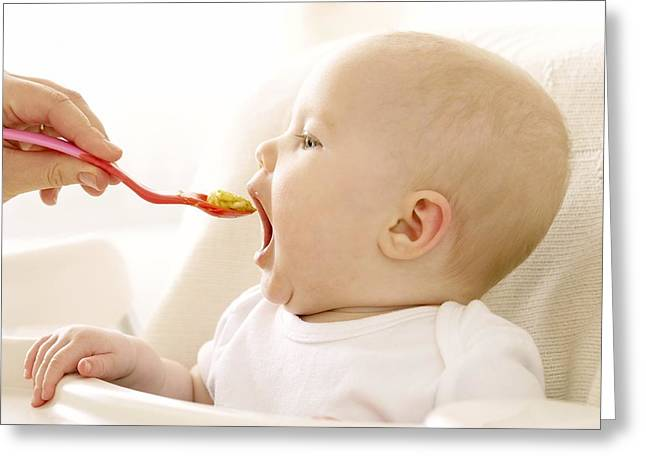 Spoon-feeding Greeting Card by Ruth Jenkinson