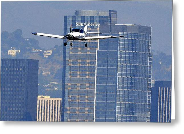 Single-engine Photographs Greeting Cards - Sports Cruiser Arrival Greeting Card by Fraida Gutovich