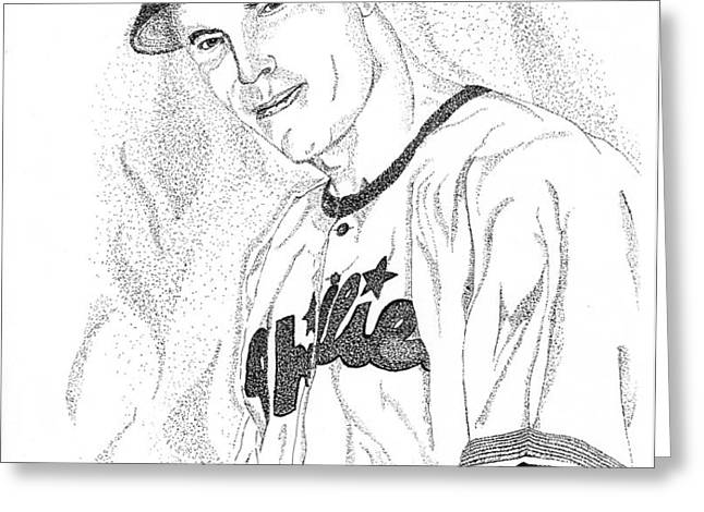 Sports Portrait Greeting Card by Marty Rice