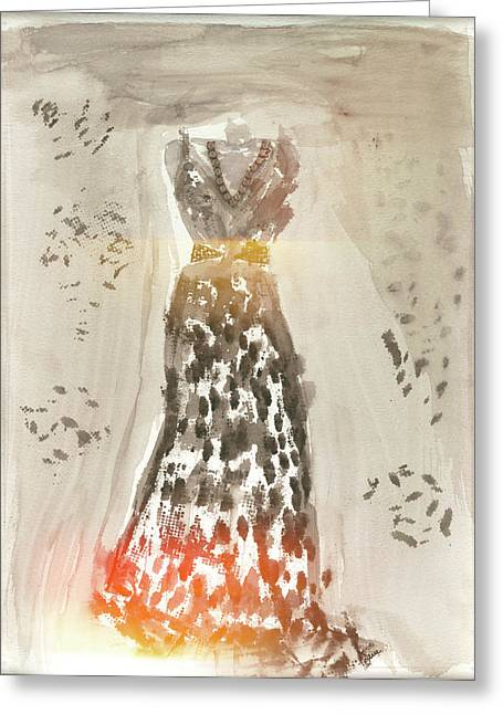 Evening Dress Digital Art Greeting Cards - Spotlight On Me Greeting Card by Lauri Serene