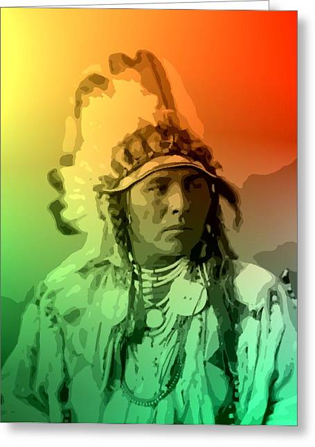 Native American Heroes Greeting Cards - Spotted Jack Rabbit - Crow Greeting Card by Lisa Berton