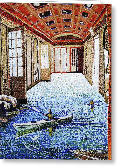 Stipple Paintings Greeting Cards - Spotty Dream Greeting Card by Nils Beasley