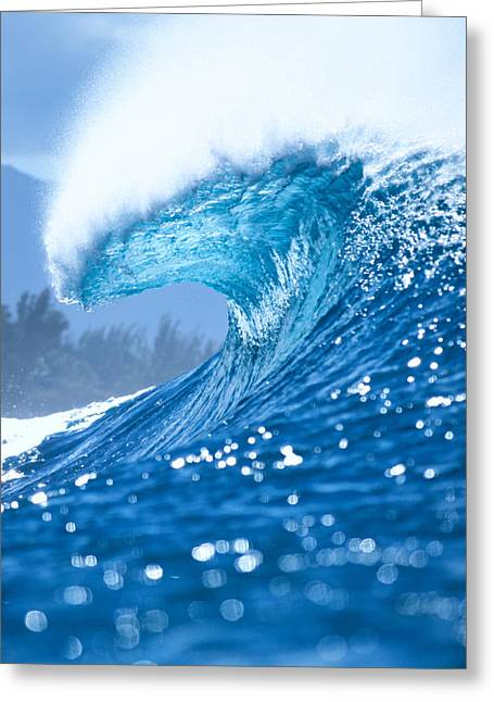 Ocean Art Photos Greeting Cards - Spray And Curl Greeting Card by Vince Cavataio - Printscapes
