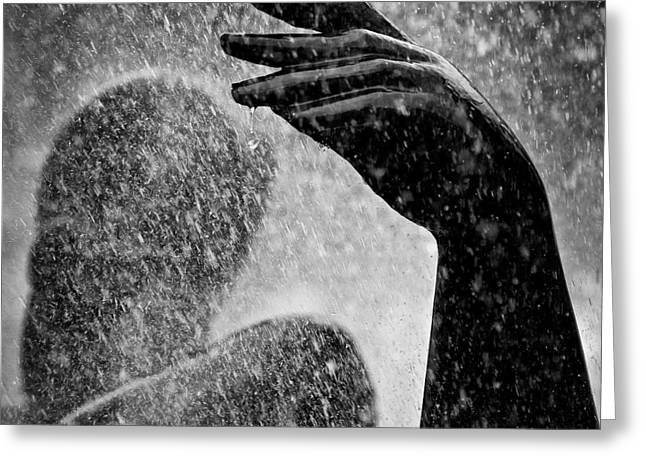 Fountain Greeting Cards - Spray Greeting Card by Dave Bowman