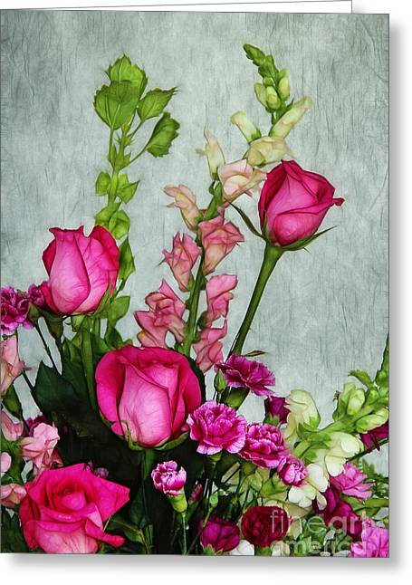 Bells Of Ireland Greeting Cards - Spray of Flowers Greeting Card by Judi Bagwell