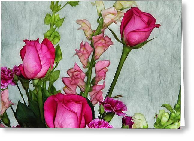 Spray of Flowers Greeting Card by Judi Bagwell