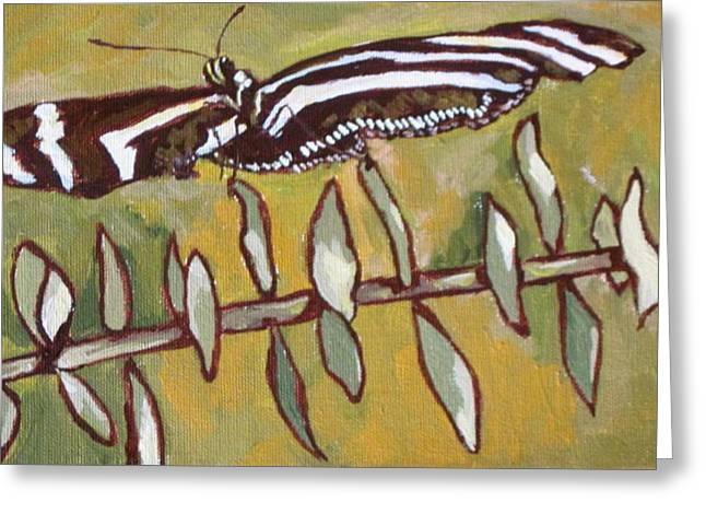 Antenna Paintings Greeting Cards - Spreading Your Wings Greeting Card by Sandy Tracey