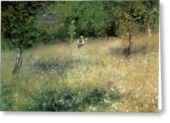 1872 Greeting Cards - Spring at Chatou Greeting Card by Pierre Auguste Renoir