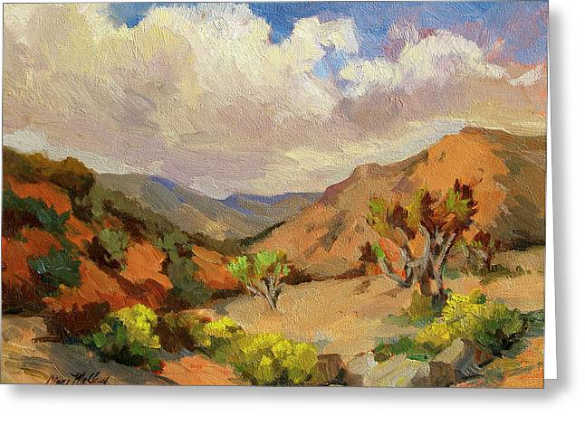National Paintings Greeting Cards - Spring at Joshua Tree Greeting Card by Diane McClary