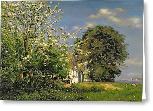 1843 Greeting Cards - Spring Blossom Greeting Card by Christian Zacho