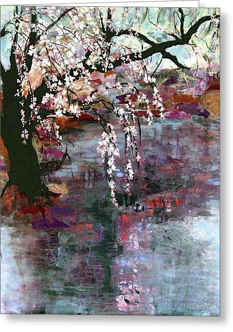 Pink And Lavender Greeting Cards - Spring Blossoms Greeting Card by Ethel Vrana