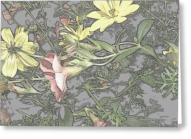 Spring Blossoms In Abstract Greeting Card by Kim Galluzzo Wozniak