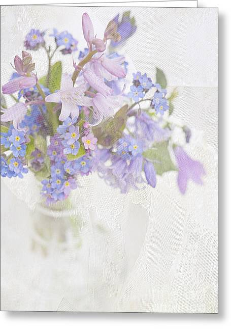 Glass Vase Greeting Cards - Spring Breeze Greeting Card by Jacky Parker
