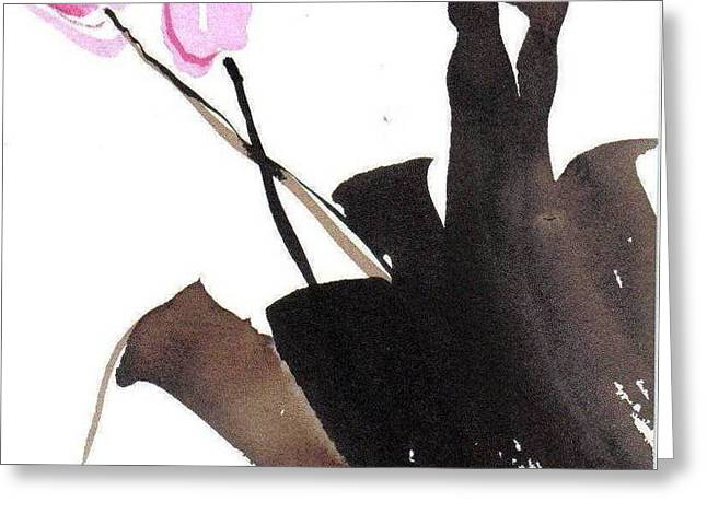Sumi Greeting Cards - Spring Greeting Card by Casey Shannon