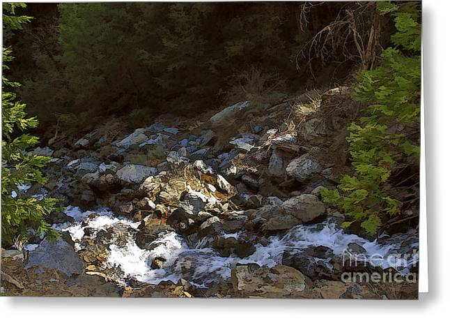 Larry Darnell Greeting Cards - Spring Creek Greeting Card by Larry Darnell