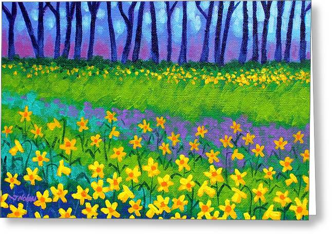Violet Prints Greeting Cards - Spring Daffodils Greeting Card by John  Nolan