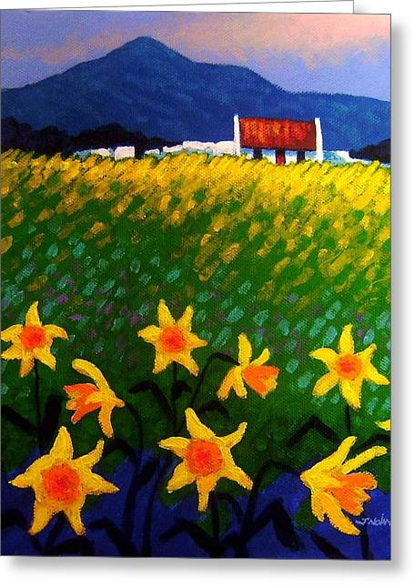 Greeting Card Artist Greeting Cards - Spring Daffs  Sugar Loaf County Wicklow Greeting Card by John  Nolan