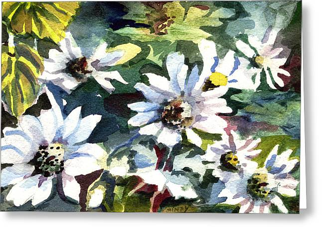 Daisy Drawings Greeting Cards - Spring Daisies Greeting Card by Mindy Newman