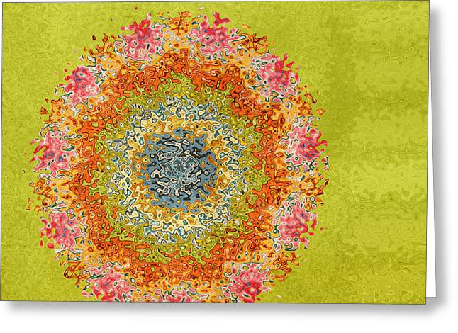 Tangerine Greeting Cards - Spring Dream Greeting Card by Bonnie Bruno
