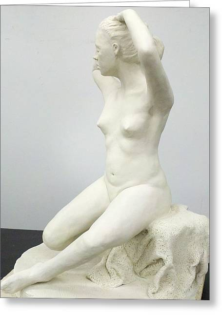 Young Woman Sculptures Greeting Cards - Spring  Greeting Card by Eduardo Gomez