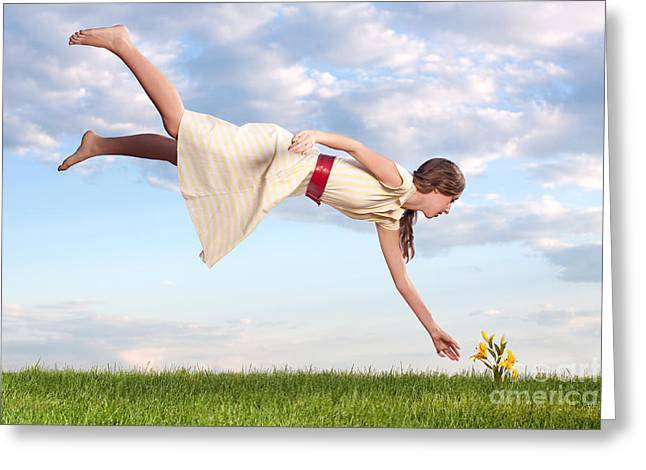 Levitation Photographs Greeting Cards - Spring Fever Greeting Card by Cindy Singleton
