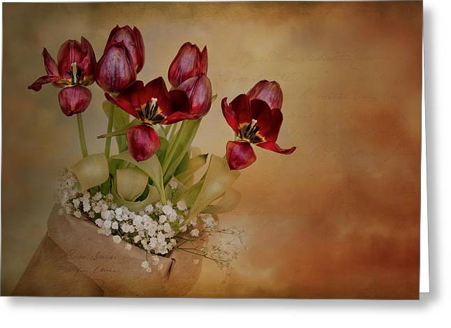 Spring Fever Greeting Cards - Spring Fever Greeting Card by Robin-lee Vieira