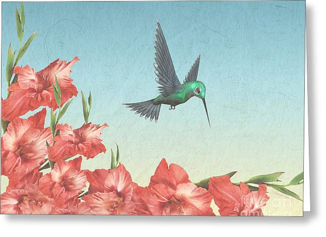 Floral Digital Photographs Greeting Cards - Spring Flight Greeting Card by Cheryl Young