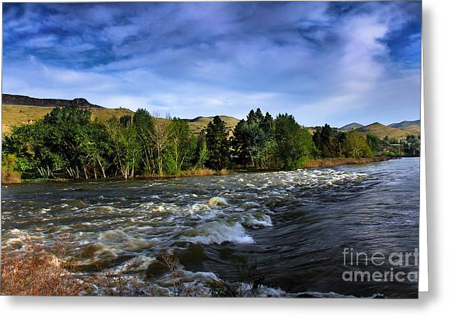 Scenic River Photography Greeting Cards - Spring Flow Greeting Card by Robert Bales