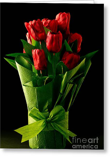 Floral Still Life Greeting Cards - Spring Flowers Greeting Card by Edward Fielding