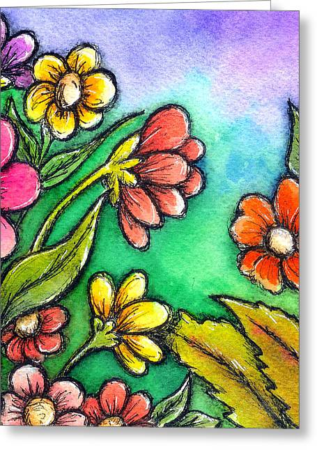 Dior Greeting Cards - Spring Garden Greeting Card by Dion Dior