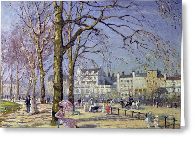 Shade Greeting Cards - Spring in Hyde Park Greeting Card by Alice Taite Fanner