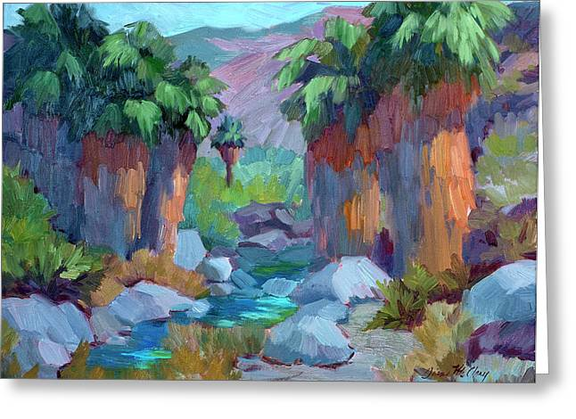 Rock Spring Greeting Cards - Spring in Indian Canyon Greeting Card by Diane McClary