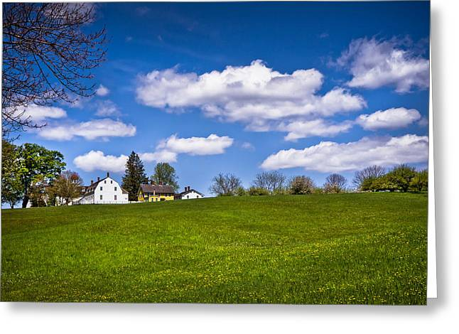 New England Village Greeting Cards - Spring in Shaker Village Greeting Card by Robert Clifford
